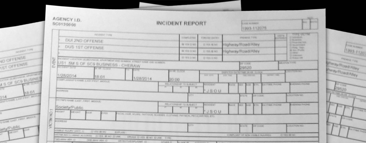 Incident Report Requests - Chesterfield County SC Sheriff's