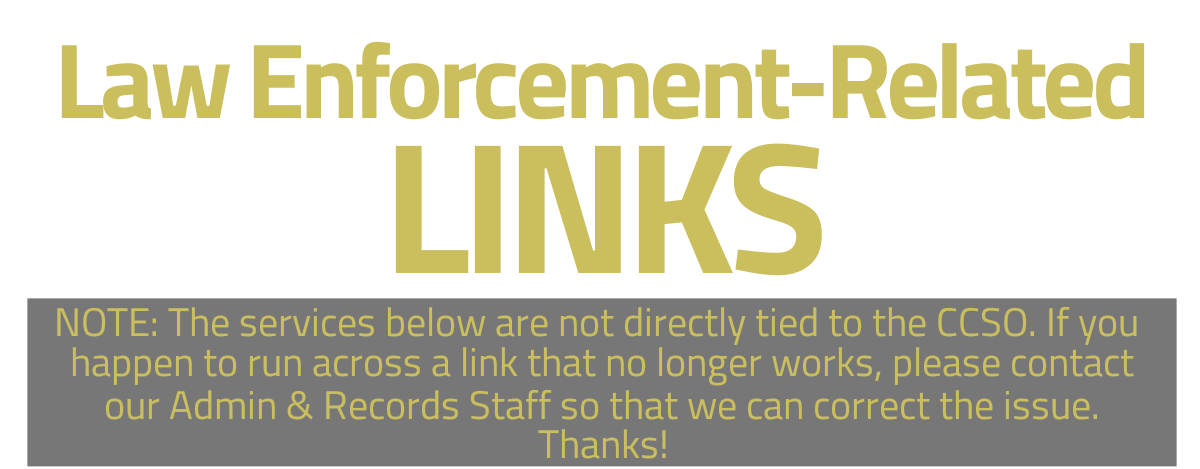 Links related to law enforcement