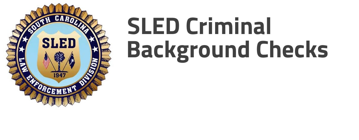 How to get a criminal background check from SLED